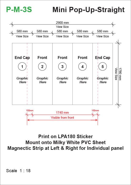 Mini-Pop-Up-System-Straight-(1780mm-x-525mm-x-1780mm)-Template-24kg-t
